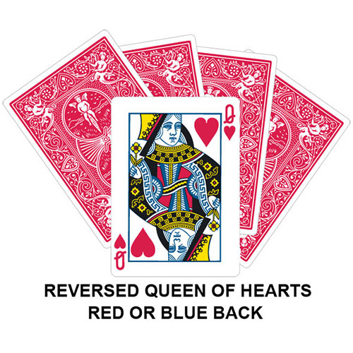 Reversed Queen Of Hearts Playing Card Gaff Magic