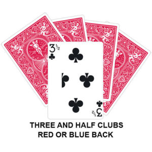 Three And Half Of Clubs Gaff Card