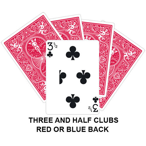 Three And Half Of Clubs playing card gaff magic