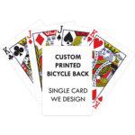 Blank Back Bicycle Playing Card Custom Printed