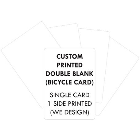 custom printed double blank bicycle cards we design