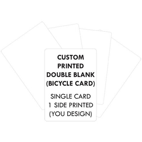 custom printed bicycle playing card double blank