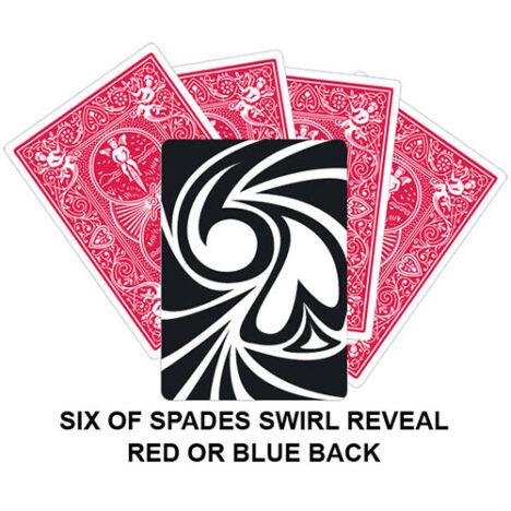 Six Of Spades Swirl Reveal Gaff Card