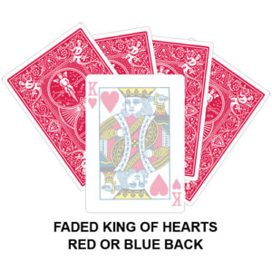 Faded King OF Hearts Gaff Card