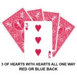 Three Of Hearts With Hearts All One Way Gaff Card