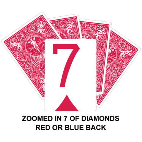 Zoomed In Seven Of Diamonds Gaff Card