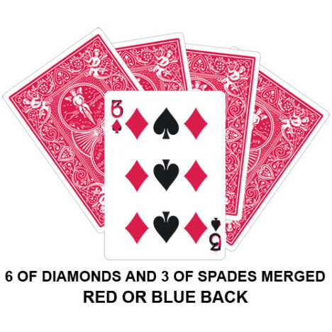 Six Of Diamonds And Three Of Spades Merged Gaff Card