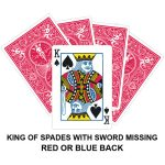 King Of Spades With Sword Missing Gaff Card