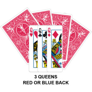 Three Queens Gaff Card