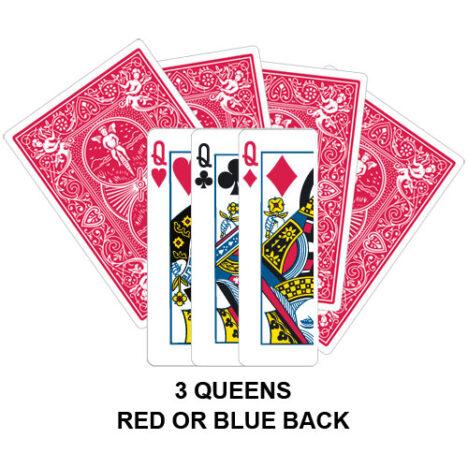 Three Queens Gaff Card
