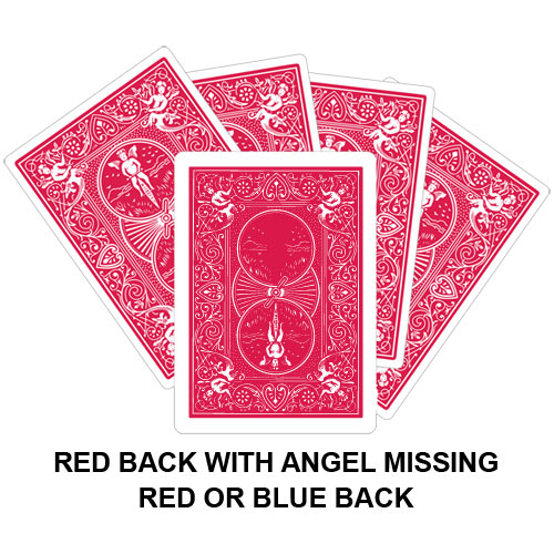 Red Back With Angel Missing Gaff Card