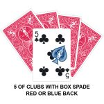 Five Of Clubs With Box Spade Gaff Card
