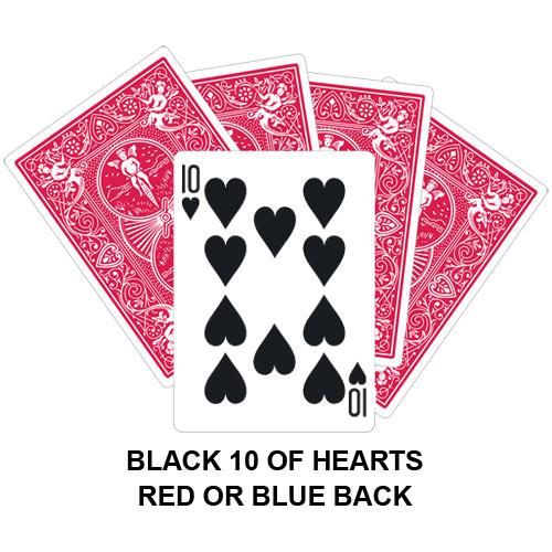 Black Ten Of Hearts Gaff Card