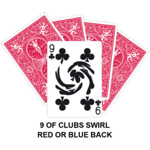 Nine Of Clubs Swirl Gaff Card