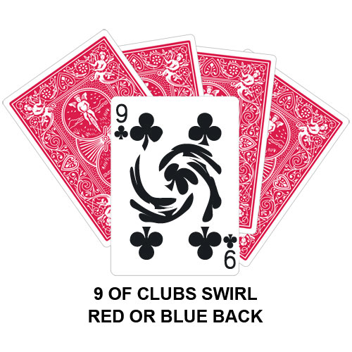 Nine Of Clubs Swirl Gaff Card