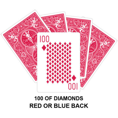 100 Of Diamonds Gaff Card
