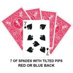 Seven Of Spades With Tilted Pips Gaff Card
