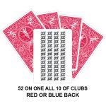 52 On 1 All 10 Of Clubs Gaff Card