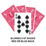 Blurred Nine Of Spades Gaff Card