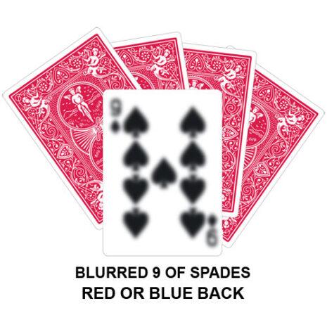 Blurred Nine Of Spades Gaff Card