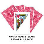 King Of Hearts And Blank Gaff Card