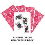Four Queens On One Gaff Card