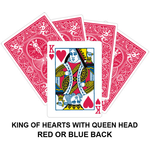 King Of Hearts With Queen Head Gaff Card