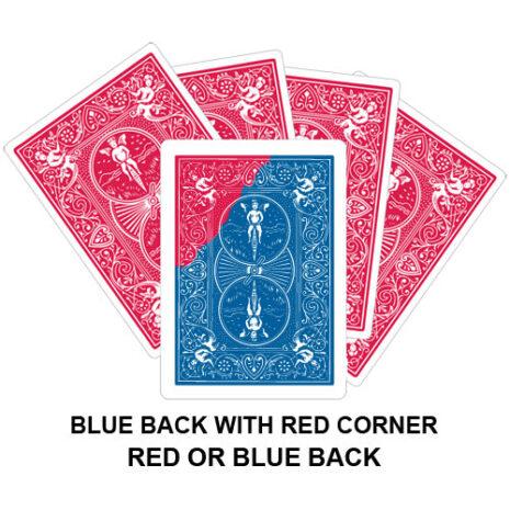 Blue Back With Red Corner Gaff Card