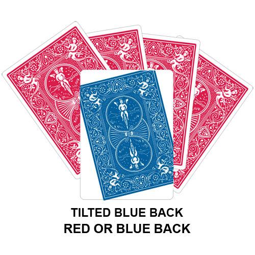 Tilted Blue Back Gaff Card