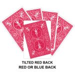 Tilted Red Back Gaff Card