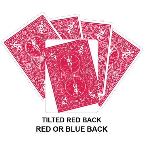 Tilted Red Back Gaff Card