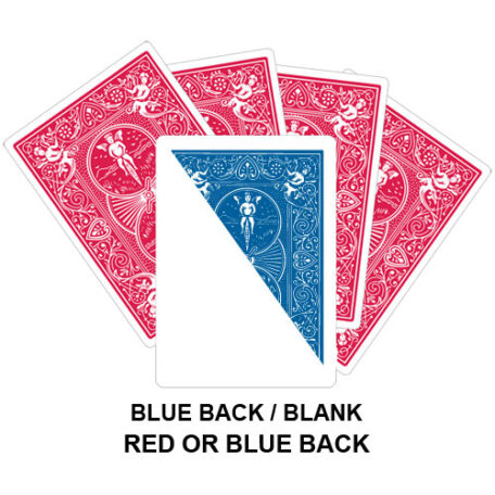 Blue Back And Blank Gaff Card