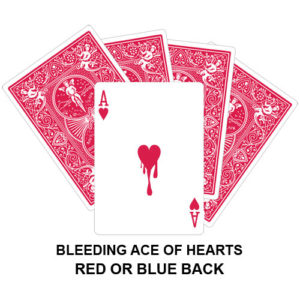 Bleeding Ace Of Hearts Gaff Card