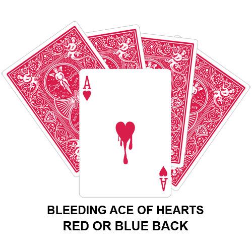 Bleeding Ace Of Hearts Gaff Card