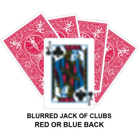 Blurred Jack Of Clubs Gaff Card