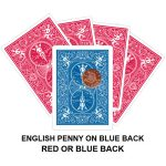 English Penny On Blue Back Gaff Card