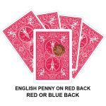 English Penny On Red Back Gaff Card