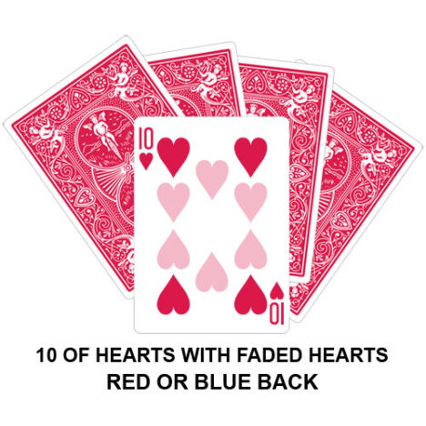 Ten Of Hearts With Faded Hearts