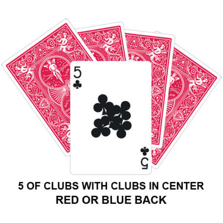 Five Of Clubs With Clubs In Centre Gaff Card