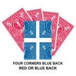 Four Corners Blue Back Gaff Card