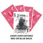 Joker Over Exposed Gaff Card
