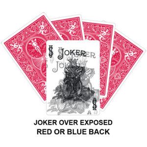 Joker Over Exposed Gaff Card