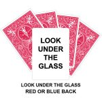 Look Under The Glass Gaff Card