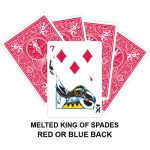Melted King Of Spades Gaff Card
