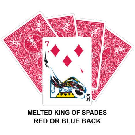 Melted King Of Spades Gaff Card