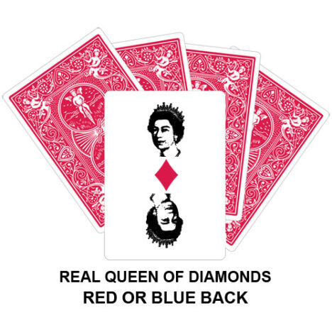 Real Queen Of Diamonds Gaff Card