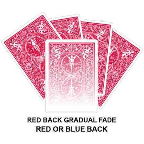Red Back Gradual Fade Gaff Card