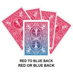 Red To Blue Back Gaff Card