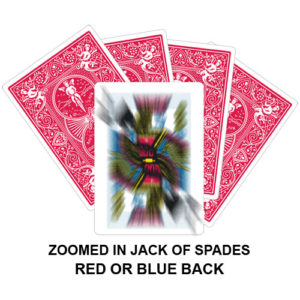 Zoomed In Jack Of Spades Gaff Card