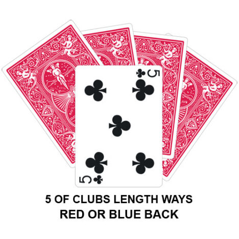 Five Of Clubs Lengthways Gaff Card
